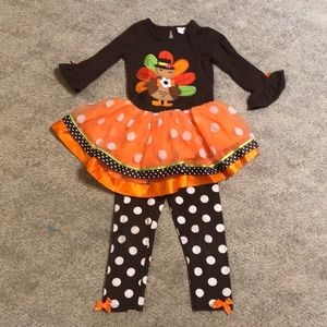Emily Rose girls thanksgiving outfit size 4